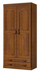 Roupeiro com 2 Portas e 2 Gavetas - Imbuia
