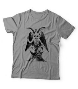 Dollynho Baphomet - camiseta cinza