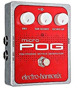 Pedal De Efeito Polyphonic Octave Micro Pog Electro-harmonix