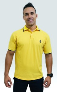 Polo AP masc. amarela