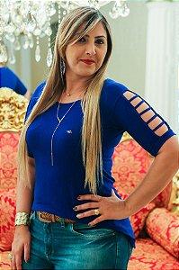 Blusa Gladiadora Azul Royal
