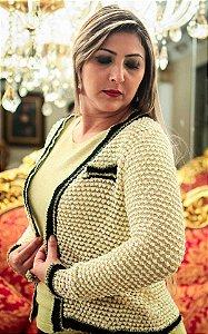 Casaqueto de Lurex c Offwhite (modelo Chanel)