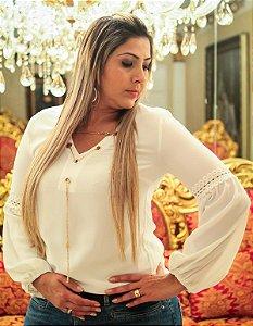 Blusa Corrente M\L Off White