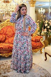 Vestido de viscose Florido