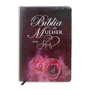 BÍBLIA DA MULHER DO AMOR VINHO C ROSA
