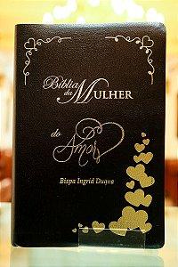 Bíblia Da Mulher Do Amor - Preta com Detalhes em Dourado