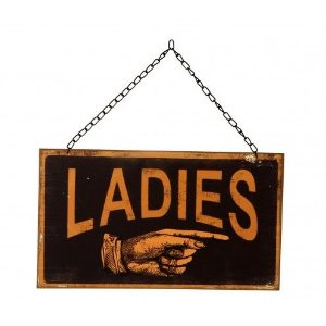 Placa Retro - Ladies & Gentlemen  24cm
