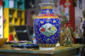 Vaso Jacarta Porcelana Chinesa - 35cm