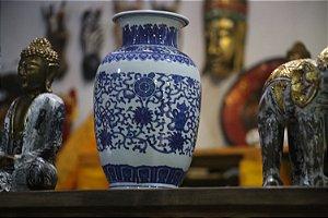 Vaso Porcelana Chinês Sino - 34cm