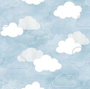 Papel de parede das Crianças - Nuvens autoadesivo