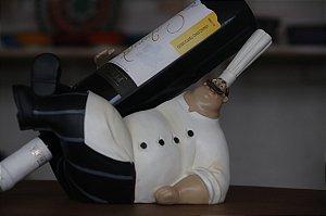 Cozinheiro Porta Vinho - Deitado 30cm