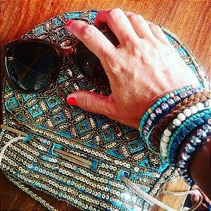 Bolsa saquinho Amazonas dourado - Índiana
