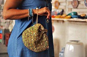 Bolsa saquinho Jade dourado - Índiana