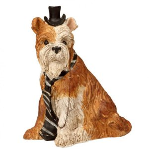 Cachorrinho Adorno Sherlock - Alt. 17cm