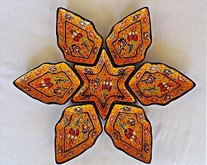 Petisqueira Turquia - 6pçs / Amarela