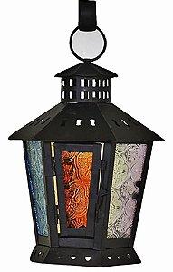 Lanterna Marroquina Vitral - Teto 20cm