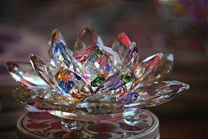 Flor de Lótus Cristal Zen color - 14cm