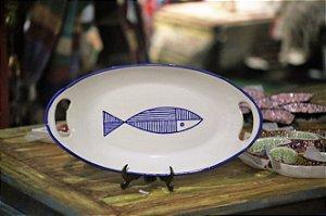 Travessa cerâmica - Peixe 35cm