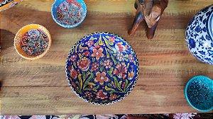 04 Tigela cerâmica Turquia - 15cm + uma 12cm