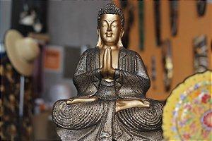 Escultura Buda meditação -   42cm
