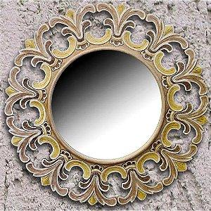 Espelho Java Arabesco - Madeira nobre  Indonésia 93cm