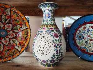 Vaso porcelana chinesa translúcido - 30cm