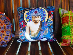 Almofada Zen Budha  - 45cm x 45cm