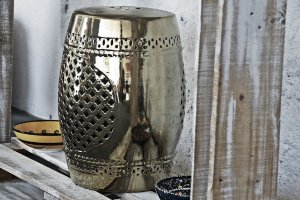 Garden seat Charme Silver -  Porcelana