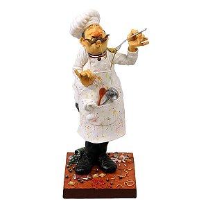 """Escultura - O Cozinheiro 40cm   """"Artista plástico: Guillermo Forchino """""""
