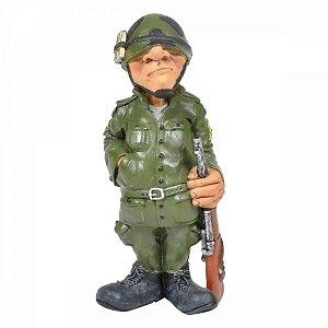 Escutura -  O Soldado Militar  25cm