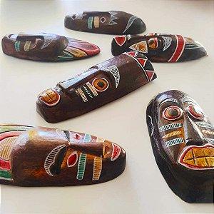 Máscara madeira coleção africana 3D - 20cm