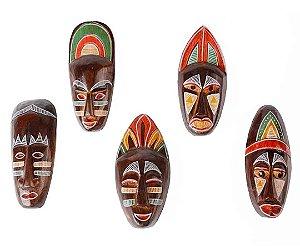 Máscara madeira coleção Africa 3D - 20cm