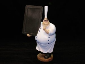Cozinheiro Lousa Menu - Grande  Alt. 38cm
