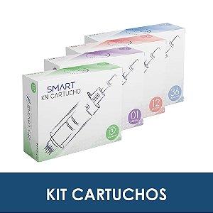 Kit Cartuchos | 10 cartuchos 01 agulha, 10 cartuchos 12 agulhas, 10 cartuchos 36 agulhas, 10 cartuchos nano 137 agulhas- Smart GR