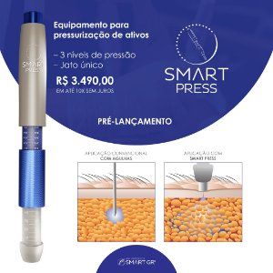 SMART PRESS X - Caneta Pressurizada Para Mesoterapia E Intradermoterapia 3 Níveis de Pressão - SMART GR