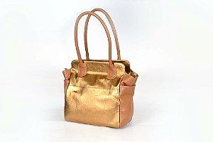 Bolsa de Couro em Bronze