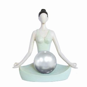 Estatueta Posição de Yoga Meditando