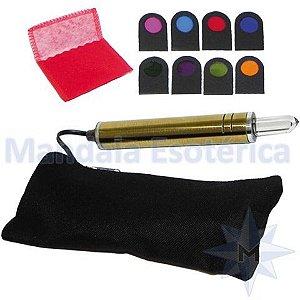 Bastão Cromático Bivolts com estojo e 8 filtros de cores Zots