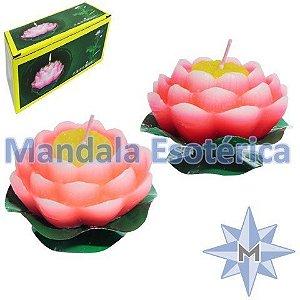 Vela flutuante Flor de lótus M Caixa com 2