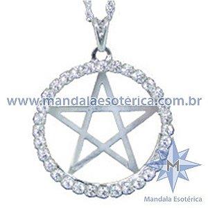 Gargantilha Pentagrama com Strass