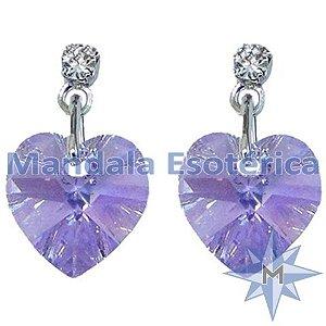 Brinco Coração Violet - Violeta