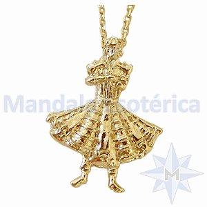 Gargantilha Xangô Banho em ouro