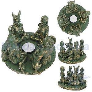 Círculo dos Deuses Verde Castiçal - Diana, Morrighan, Cernunnos e Pan