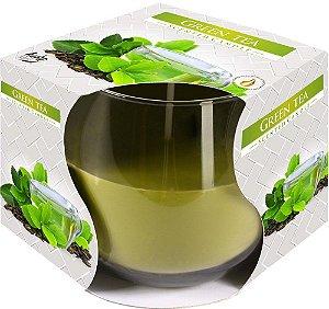 Vela Perfumada Com Copo Aroma de Chá Verde