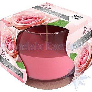 Vela Aromatizada Copo Aroma de Rosas