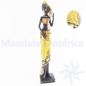 Africana em Resina e Tecido C