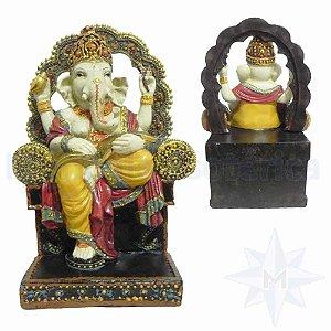 Ganesha da Sabedoria no Trono