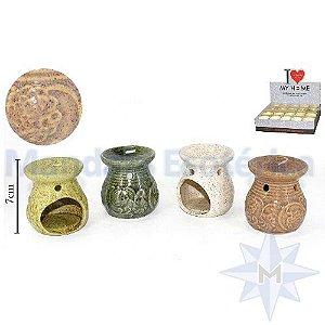 Queimador em Cerâmica Relevo Flores P