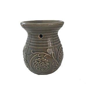 Rechô em Cerâmica Listrado Flores em Relevo