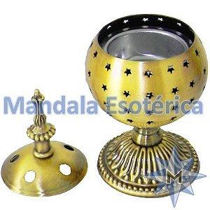 Turibulo de mesa Ouro Velho em metal